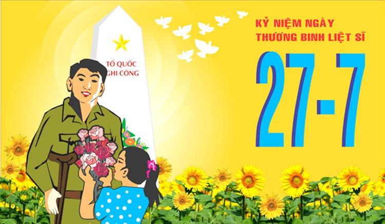 Tuyên truyền kỷ niệm 74 năm Ngày Thương binh - Liệt sĩ ( 27/7/1947 - 27/7/2021 )